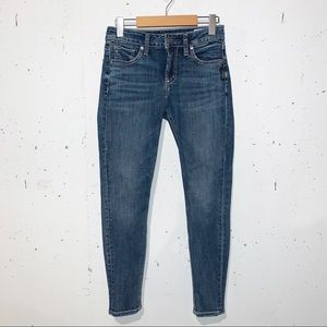 Silver Jeans Co. Avery Skinny Medium Wash Size 26 x 27 Blue Ankle